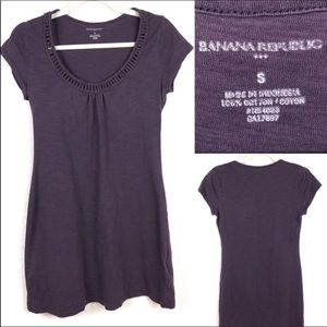 Banana Republic tee shirt dress. Plum colored